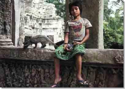 В Эфиопии циветта - домашний зверек