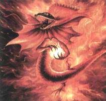 Огненная саламандра в представлении художников-фантастов