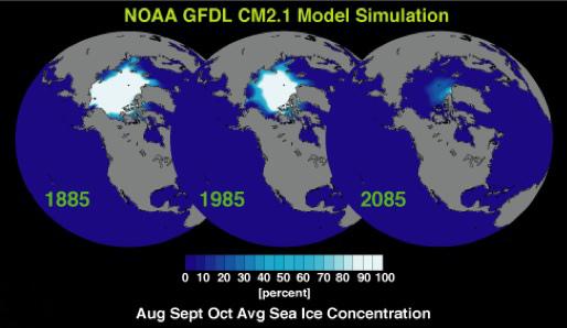Компьютерное прогнозирование таяния полярных льдов.