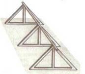 Каркас из деревянных треугольников