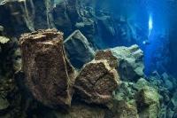 Дайвер исследует континентальный разлом в Сильфра, Исландия, в 2010 году. Фотоснимок завоевал высшую награду в категории «Дайвинг» в четвертом ежегодном международном конкурсе подводной фотографии в Индонезии.